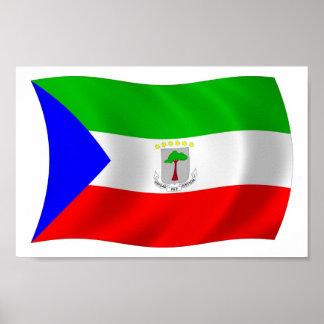 Äquatorialer Guinea-Flaggen-Plakat-Druck Poster