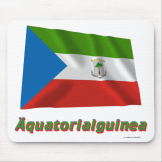 Äquatorialguinea Fliegende Flagge, deutscher Name Mousepads
