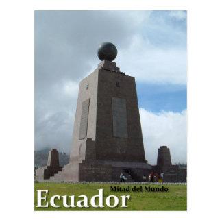 Äquatorlinie Monument Mitad Del Mundo Ecuador Postkarte