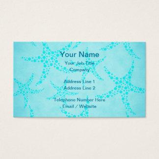 Aquaund Türkisstarfish-Entwurf Visitenkarten