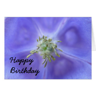 Aquilegia Blumen-Geburtstags-Karte Karte