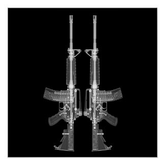 AR-15 CT Scan-Bild HOHES DETAIL-PLAKAT Poster