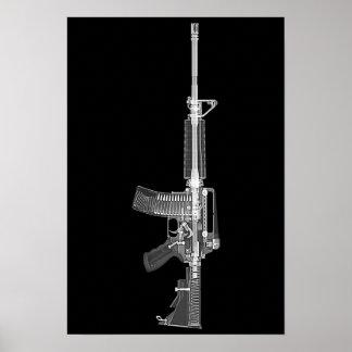 AR-15 CT Scan/Röntgenstrahlplakat Poster