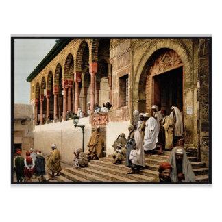 Araber, die Moschee, Vintages Foto Tunis, Tunesien Postkarte