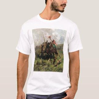 Araber mit einem Falken T-Shirt