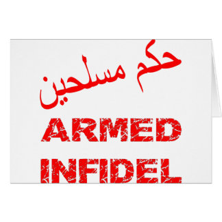 Arabisch-bewaffneter Ungläubiger Karte