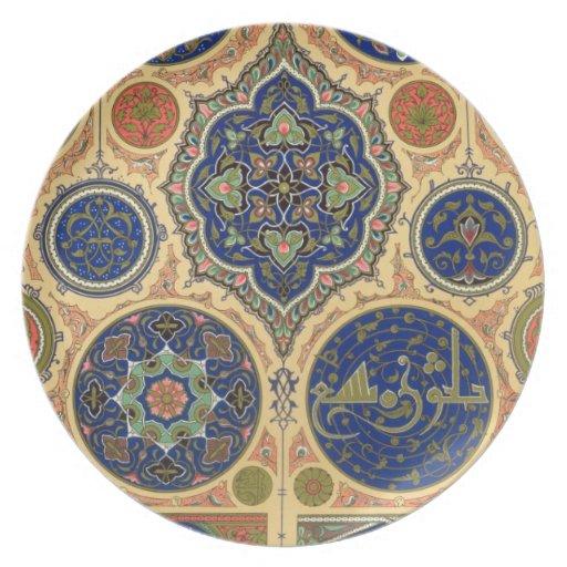 Arabische Dekoration Platte Xxvii Von 39 Vielfarbig Flacher