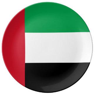 Arabische Emirate-Flagge Teller Aus Porzellan
