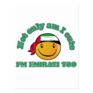 Arabische Emirate-smileyflaggenentwürfe Postkarte