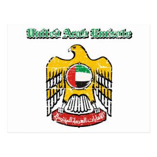 Arabische Emirate-Wappen Postkarte
