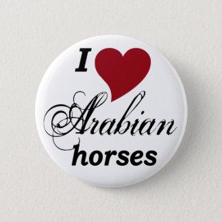 Arabische Pferde Runder Button 5,1 Cm