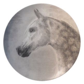 Arabische Pferdeplatte - arabisches Pferd Teller