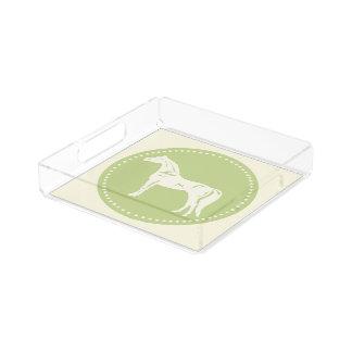 Arabische PferdeSilhouette Acryl Tablett