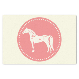 Arabische PferdeSilhouette Seidenpapier