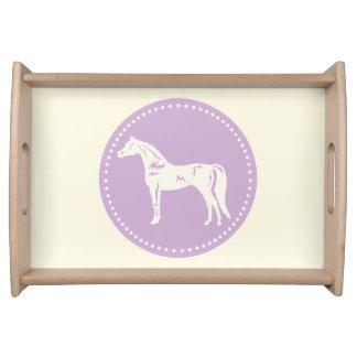 Arabische PferdeSilhouette Tablett