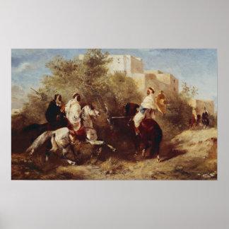 Arabische Reiter Posterdrucke