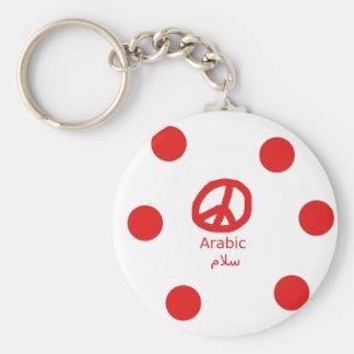 Arabische Sprache und Friedenssymbol-Entwurf Schlüsselanhänger