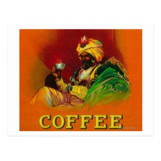 Arabischer Mann-Kaffee-Aufkleber Postkarte