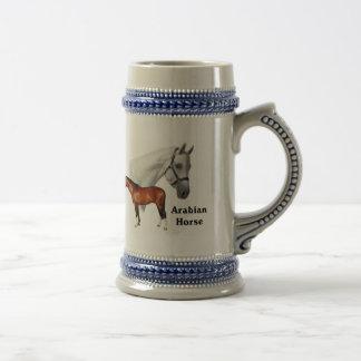 Arabisches Pferd Bierglas
