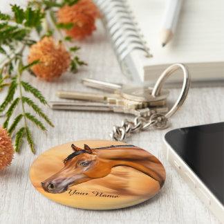 Arabisches Pferd personalisiert Schlüsselanhänger