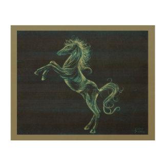 Arabisches Pferdehölzerner Wand-Kunst-Druck Holzdruck