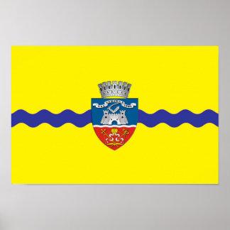 arad Stadtflaggen-Rumänien-Symbol Poster