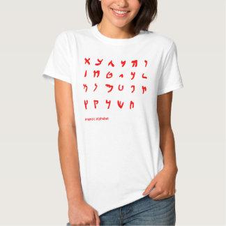 Aramäisches Alphabet Hemd