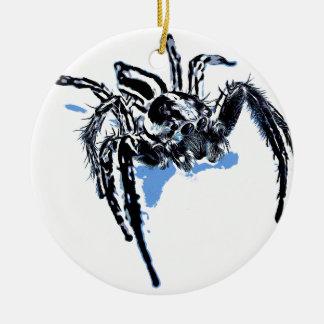 Aranha azul Blaue Spinne Blaue Spinne Araignée ble Keramik Ornament