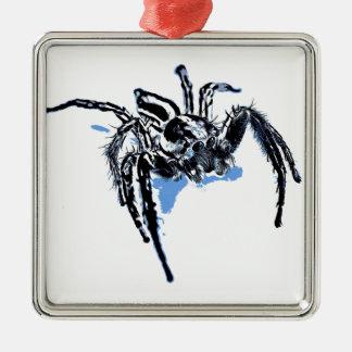 Aranha azul Blaue Spinne Blaue Spinne Araignée ble Silbernes Ornament