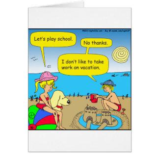 Arbeit 534 über Ferien-Cartoon Karte