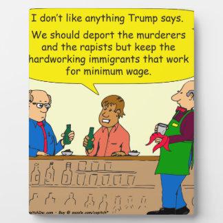 Arbeit mit 753 Immigranten für Mindestlohn-Cartoon Schautafeln