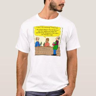 Arbeit mit 753 Immigranten für Mindestlohn-Cartoon T-Shirt