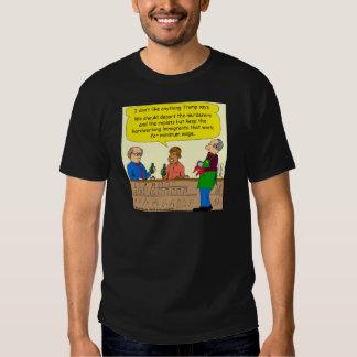 Arbeit mit 753 Immigranten für Mindestlohn-Cartoon T Shirt