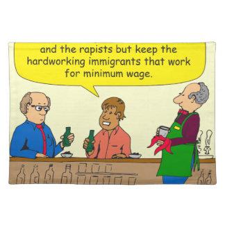 Arbeit mit 753 Immigranten für Mindestlohn-Cartoon Tisch Sets
