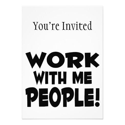 Arbeit mit mir Leute-Team-Arbeit Personalisierte Einladungen