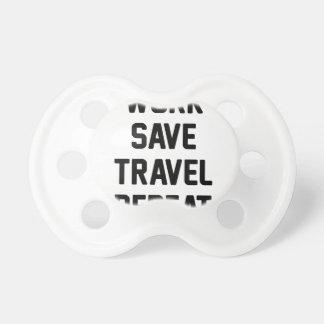 Arbeit retten Reise Schnuller