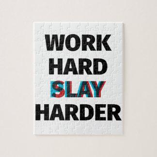 Arbeit töten stark stark puzzle