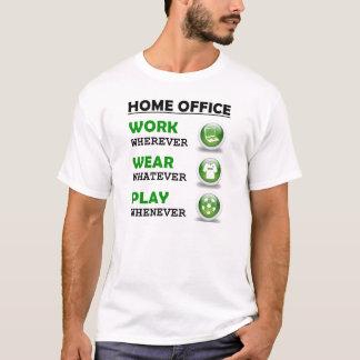 Arbeit vom Zuhause-Büro-lustigen Zitat T-Shirt