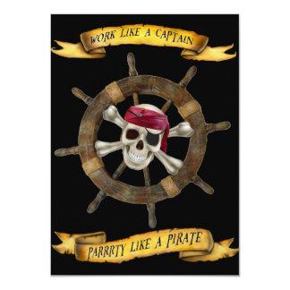 Arbeit wie ein Kapitän Party Like ein Pirat Karte