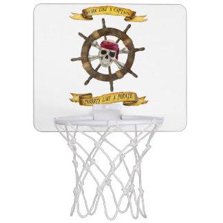 Arbeit wie ein Kapitän Party Like ein Pirat Mini Basketball Ring