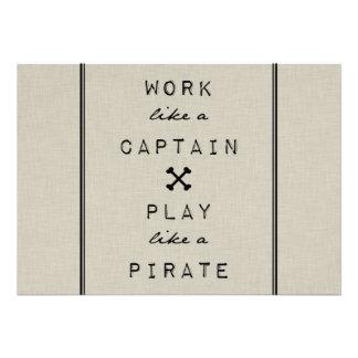 Arbeit wie ein Kapitän Play Like A Pirate Ankündigungen