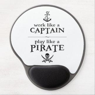 Arbeit wie ein Kapitän, Spiel mögen einen Piraten Gel Mousepads