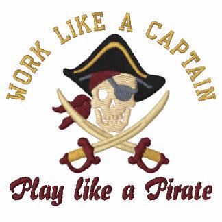 Arbeit wie eine Stickerei Kapitän-Play Like A Besticktes Shirt
