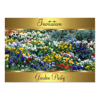 Arbeiten 50. Geburtstags-Party im Garten 12,7 X 17,8 Cm Einladungskarte