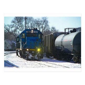 Arbeiten an der Eisenbahn Postkarte
