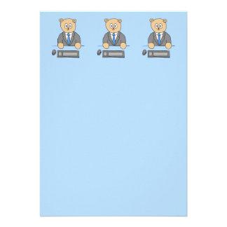Arbeiten in einem Büro Blaue Bindung Ankündigungskarte