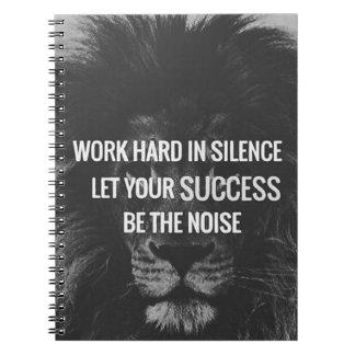 Arbeiten schwer in der Ruhe - motivierend Notizblock