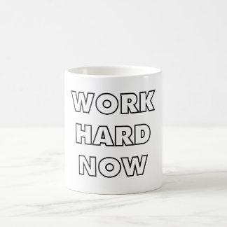Arbeiten schwer jetzt kaffeetasse