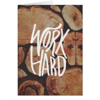 Arbeiten schwer karte