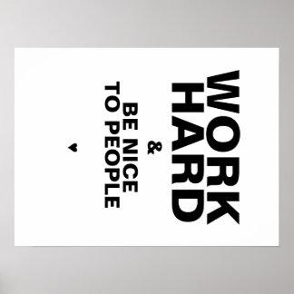 Arbeiten schwer u ist Nizza zum Leute-Plakat Wei